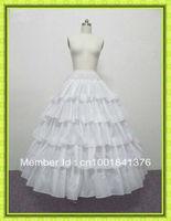 Free shipping 100%gurantee 4-HOOP 5-LAYER wedding bridal petticoat,underskirt Ball Gown adjustable