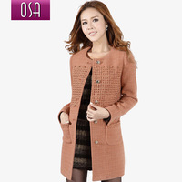 Osa women's 2012 winter slim woolen outerwear spring woolen overcoat female d21794