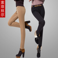 2013 spring slim harem pants basic long trousers pants