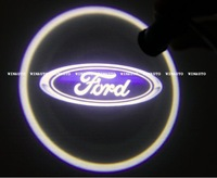Free Shipping High Power car ghost light LED Car Logo With Names Welcoming Light With Laser light CREE LED For Ford
