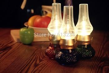 Free Shipping 1piece USB Gadget USB Kerosene Lamp USB Blowing Control LED Lamp