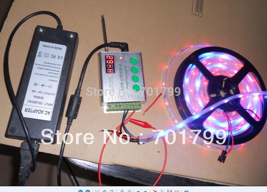RF controller+12V/5A power adaptor+5m led digital strip,DC12V input,WS2811IC10pcs IC and 30pcs 5050 SMD RGB each meter(China (Mainland))