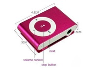 Free shipping  MINI Clip MP3 Player with card slot Support 8GB- 2GB Micro TF card in original box