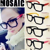 Mosaic Glasses M5 2012 big mosaic eyeglasses Women male Clear Lens Nerd Glasses Frame
