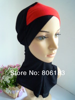 m1760 Fashion Underscarf Cross-over Design Muslim Inner Cap Cotton And Lycra Muslim Hijab  Free Shipping By EMS or FEDEX