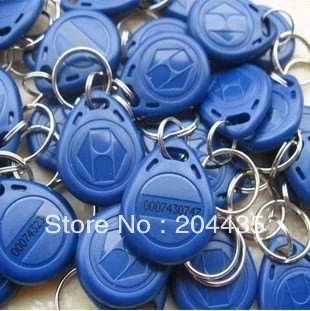 125Khz RFID Proximity ID Card Token Tags Key Keyfobs for Access Control Time Attendance