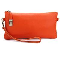 2013 cowhide genuine leather wallet vintage large capacity long design wallet hand women's bags