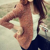 Autumn slim 2012 fashion women's woolen outerwear blazer suit woolen short jacket baiters