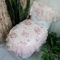 Pearl lace cloth toilet set toilet seats toilet set piece set home fabric