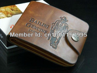 Free shipping stylish men wallet+genuine leather+pockets wallet