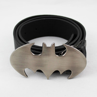 BATMAN Logo Leather Metal Buckle Waist Belt Cosplay  c222
