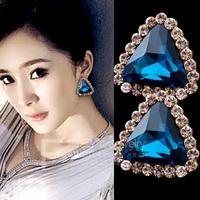 Fashion Austrian Crystal Uique Design Stud Earrings FREE SHIPPING!