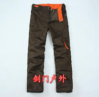 Free Shipping Men water-proof and free breathing thermal wear-resistant skiing pants outdoor trousers 0.76