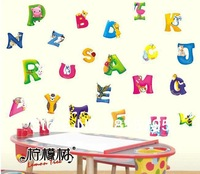 "LD627 Alphabet Fun Wall Sticker 51""x24"" Cartoon PVC English Letters Child Room Decor Paper 5th Generation Viynl Wallart Mixable"