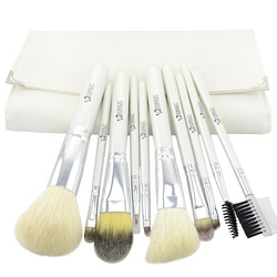 10 genuine white / wool brush makeup brush Set animal hair brush tools explosion models send package(China (Mainland))