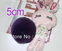 Free shipping!!!! 50pcs 5cm high-quality purple genuine rex rabbit fur ball fit Cell Phone Pendant key Chain or hair pom pom