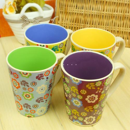 Hot-selling fashion ceramic cups cup mug flower(China (Mainland))
