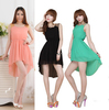 Women's 6 Colors Paillette Shoulder Slim Elegant Chiffon Mini Casual Vest Dress  HR279
