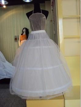 Белый A-Line 3-Hoop Tulle Net Свадьба Bridal Prom Show Crinoline Slip Underskirt ...