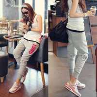 Hip-hop casual trousers harem pants female sports pants female plus size women's trousers skinny pants breeches