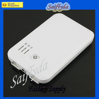 Factory price High Quality 5000mAh External Battery Charger Power Bank 2 Dual USB 2A free shipping