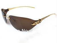 new brand Top quality Fashion Leopard grain Polarized Glasses without frame Sunglasses,Driving glasses,1pc