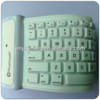 New Bluetooth Wireless Washable Water-proof Flexible Silicone Roll UP Keyboard for Tablet PC, Galaxy Tab Tablet