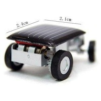 2x New Big Discount Sale The World's Smallest Car Solar Powered Educational Toy car,Mini Children Solar Toy Gift