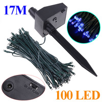17M 100 LED Blue light Solar string Christmas lighting LED String Lights Fairy Strip for Wedding Party Christmas Free Shipping