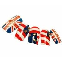 2013 hot new fashion charm women Nail Art Decoration British Lunfan British flag false nail tips  nail patch  Free Shipping
