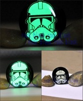 Strooper  Glow In The Dark  Screw-fit ear plug  flesh tunnel Acrylic Single Flare expander body jewelry mixing 10sizes YGE9
