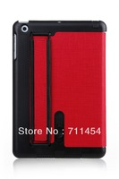 Free shipping Hot selling Leather case for Ipad mini for tablet pc accessories