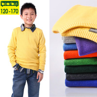 Children's clothing autumn and winter male child o-neck sweater child sweater child basic sweater male sweater