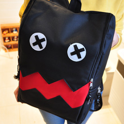 Cartoon canvas preppy style middle school students school bag backpack travel bag laptop bag women fashion designer item(China (Mainland))