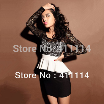 2015 hot trendy cozy fashion women clothing cotton cute casual high street sheath active sexy dress Hit the color lace