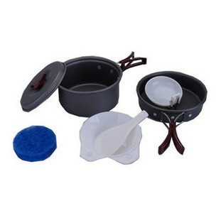 2 hornier pot outdoor camping dinnerware set buzhanguo camping cookware bag(China (Mainland))
