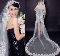 1T White IVORY LACE MANTILLA WEDDING Bride VEIL 3M