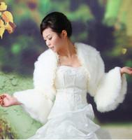 ivory faux fur wedding bridal wrap jacket shawl coat