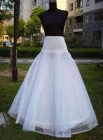 A Line White bridal hoops crinoline petticoat skirt slip