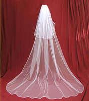 2t white/ ivory wedding bridal Accessories veil 3m comb