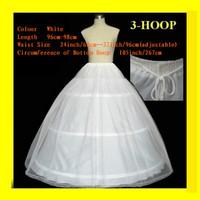 white 2 layers 3 Hoop bridal petticoat crinoline
