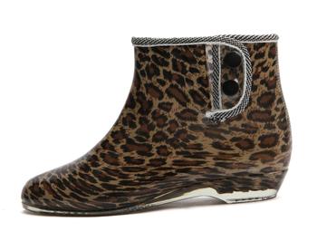 2013Модный leopard woman rainboot for lady colourПолный rain boot & 7Цветs