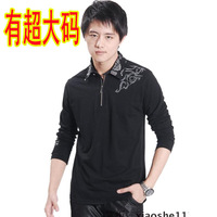 2012 autumn clothes male men's plus size plus size long-sleeve T-shirt extra large t shirt 195