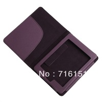 Hot selling Protective PU Leather Case Cover for Amazon Kindle Touch Deep Purple Free Shipping Wholesale