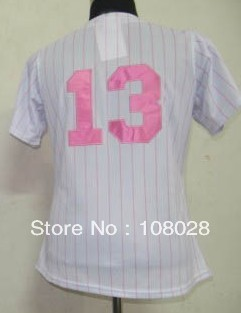 Free Shipping #13 Alex Rodriguez Women&#39;s Baseball Jersey,Sports Jersey,Embroidery logos,Size S--XXL,Accept Mix Order(China (Mainland))