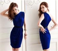 Женское платье Ladies Stripped Cotton Dress, Women Fashion Dress, 2 Color#6778