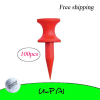 Free Shipping! 100pcs+30MM Plastic Red Golf castle ball Tees Golfer Club Practice Accessory Sports