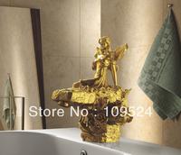 Free shipping gold clour sink faucet  artistic  basin faucet   luxurious FAUCET MODER MIXER FAUCET