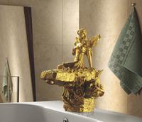 EMS(DHL) Free shipping GOLD Finish  Bathroom Sink beauty Faucet  gold clour sink faucet artistic basin faucet luxurious FAUCET