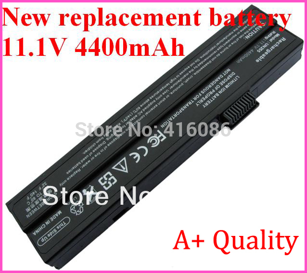 New Replacement Laptop Battery for Uniwill 255 N255 UN255 N245 N259 FN25 255-3S4400-S1S1 255-3S4000-S1P3 23VGF1F-4A + Mail Free(China (Mainland))